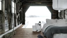 chambre au design original sur le quai