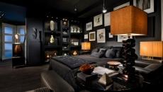 chambre décoration sombre