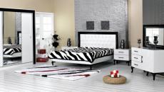 Très design chambre à coucher aux allures contemporaines