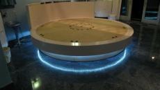 lit design forme ronde et illuminé