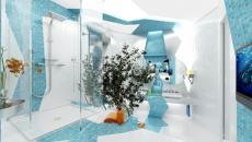 Salle de bain originale et très design
