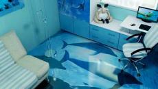 3D revêtement de sol aux dauphins