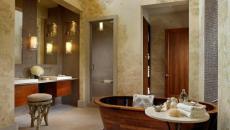 baignoire design ambiance bois
