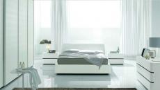 Chambre au design déco toute en blanc