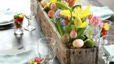 décoration de Pâques centre de table