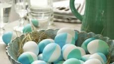 originales idées déco Pâques en turquoise