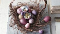 panier à œufs en brindilles de bois