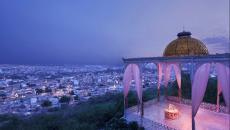 Splendide panorama sur Hyderabad de nuit