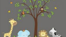 15 décoration avec stickers muraux spécial chambre bébé