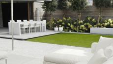 Lignes simples et épurées pour ce jardin paysagiste contemporain