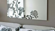 miroir tableau design aux fleurs