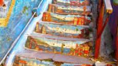 Escalier à Valparaiso - Chili