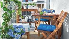 balcon et petit jardin citadin