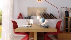 Modernité et simplicité dans l'aménagement du bureau