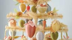 arbre aux œufs multicolores pour Pâques