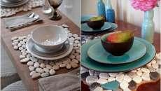 Une déco originale pour une table qui donne envie – des sets en cailloux