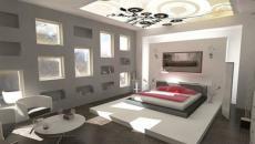 chambre a coucher design plafond original