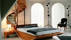 chambre design lit à bascule