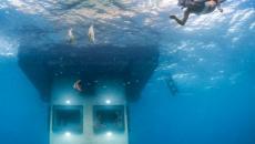 Chambre pour admirer le paysage sous-marin