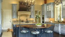 Cuisine Moderne Design Bleu