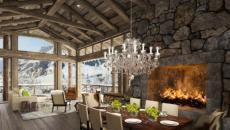 hôtel de luxe dans les Alpes suisses