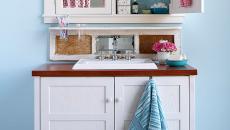 Rangement salle de bain optimisant l'espace des placards