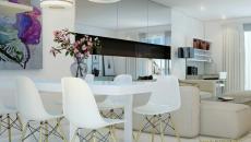 salle à manger contemporaine en blanc