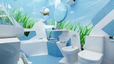 Concept original de salle de bain design