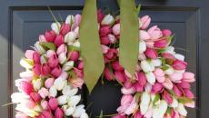 couronne déco pâques tout en fleurs