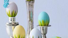 Pâques idées déco présentation œufs