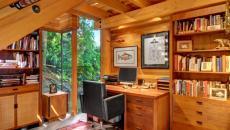 L'ambiance « cosy » du bureau en bois