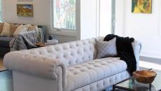 Canapé Chesterfield classique en blanc