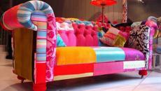 Canapé « patchwork » un vrai bijou de déco tendance