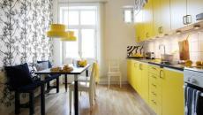 cuisine moderne en jaune canard effet deco