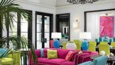 Mobilier en couleur flashy pour une deco maison originale