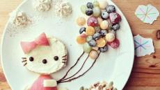 kitty dans l'assiette
