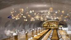 Station de métro transformée en restaurant