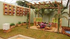 Mobilier de jardin en palettes
