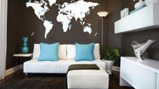 stickers muraux carte du monde