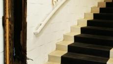 Escalier décoré par un tapis trompe-l'œil