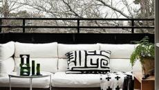 blanc et noir petit balcon