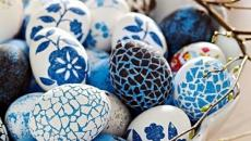 assortiment d'œufs bleus de pâques