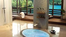 baignoire design au sol