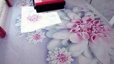 jolies fleurs en 3D au sol