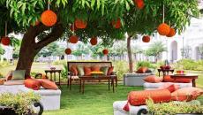 Jardin merveilleux digne d'hotel de luxe