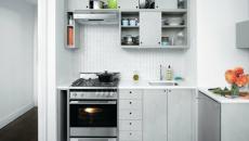 Jolie petite cuisine aménagée toute en gris