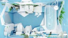 Concept design de salle de bain original