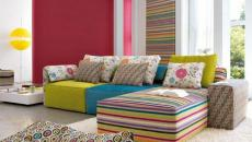 séjour moderne déco en couleur