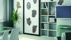 stickers muraux de fleurs pour salle à manger