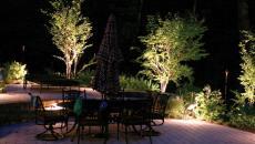 Terrasse d'extérieur au luminaire jardin